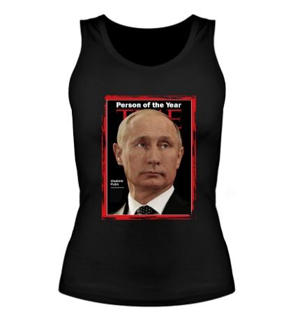 Женская майка Путин Человек Года