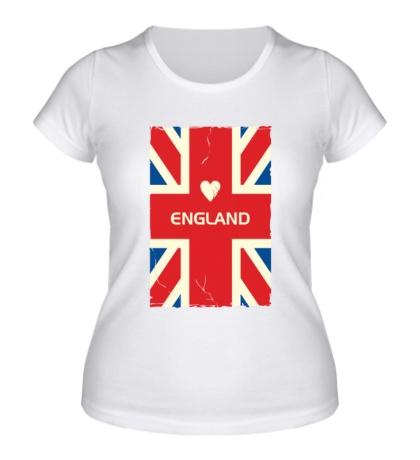 Женская футболка Love England