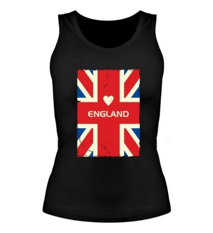 Женская майка Love England