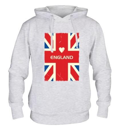 Толстовка с капюшоном Love England