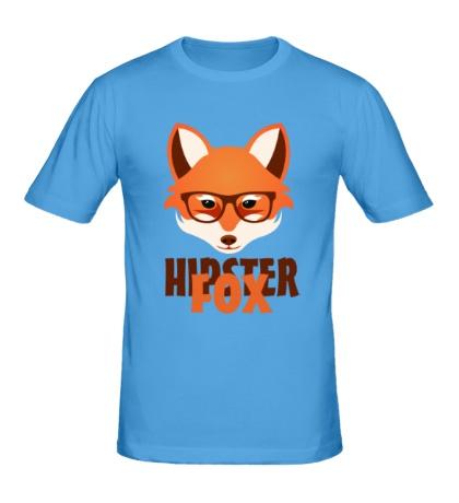 Мужская футболка Hipster fox