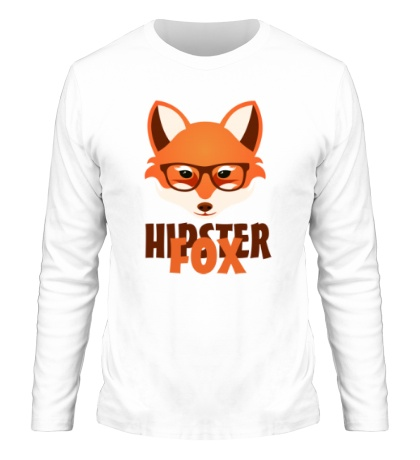 Мужской лонгслив Hipster fox