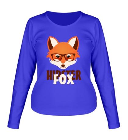 Женский лонгслив Hipster fox