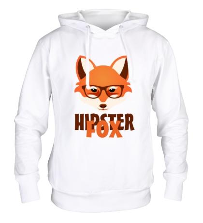 Толстовка с капюшоном Hipster fox