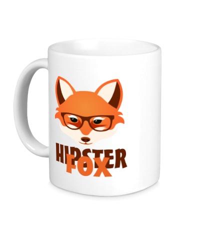 Керамическая кружка Hipster fox