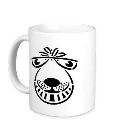 Керамическая кружка Морда собаки