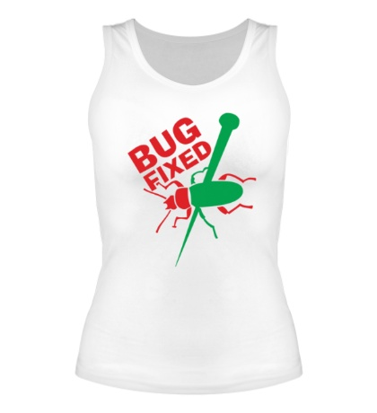 Женская майка Bug fixed