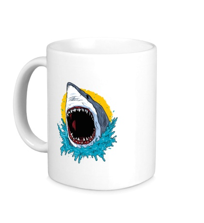 Керамическая кружка Дикая акула