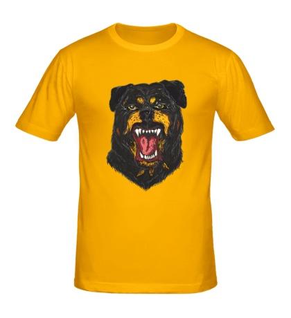 Мужская футболка Агрессивный Ротвейлер