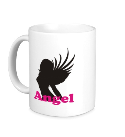 Керамическая кружка Девушка Ангел