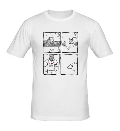 Мужская футболка I love Dog