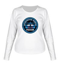 Женский лонгслив Космические войска России