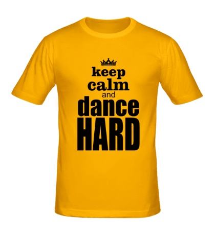 Мужская футболка Keep Calm & Dance Hard
