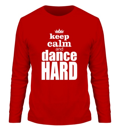 Мужской лонгслив Keep Calm & Dance Hard