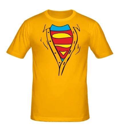 Мужская футболка Застенчивый Супермен