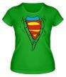 Женская футболка «Застенчивый Супермен» - Фото 1