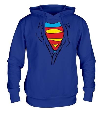 Толстовка с капюшоном Застенчивый Супермен