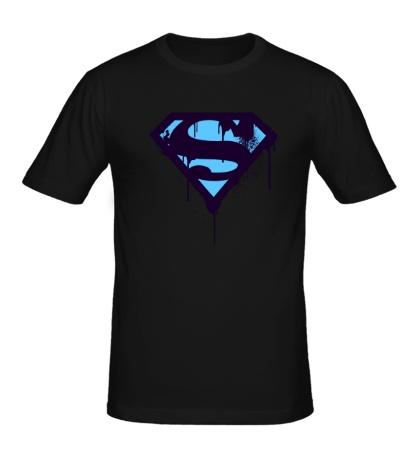 Мужская футболка Superman Purple