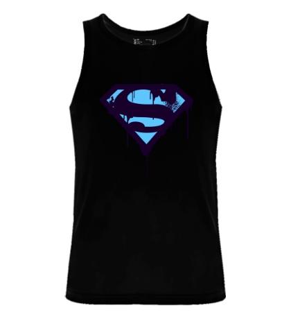 Мужская майка Superman Purple
