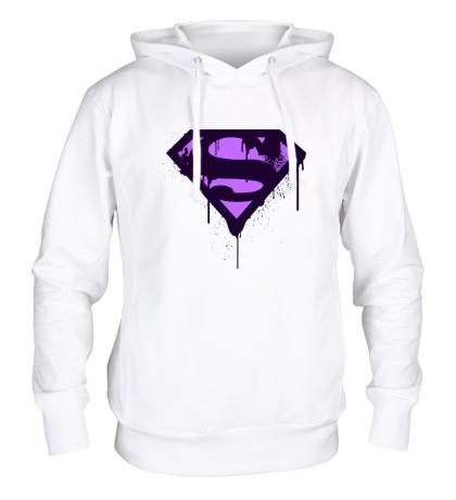 Толстовка с капюшоном Superman Purple
