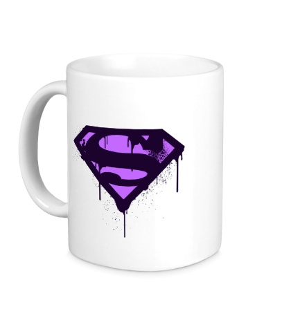 Керамическая кружка Superman Purple
