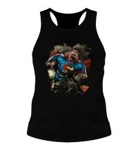 Мужская борцовка Superman Over Metropolis