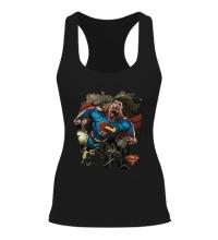 Женская борцовка Superman Over Metropolis