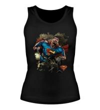 Женская майка Superman Over Metropolis