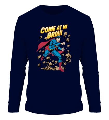 Мужской лонгслив Superman: Come at me bro