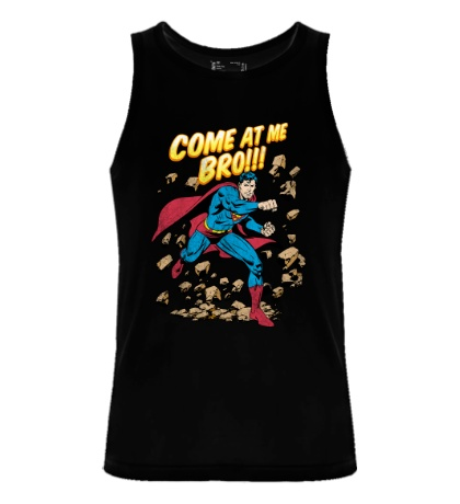 Мужская майка Superman: Come at me bro