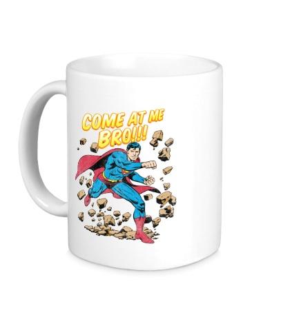 Керамическая кружка Superman: Come at me bro