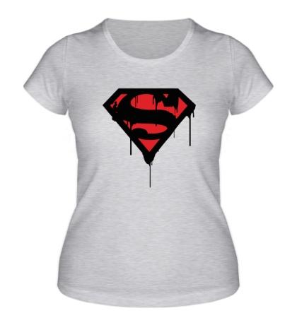 Женская футболка Blood Superman