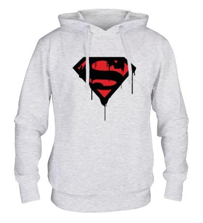 Толстовка с капюшоном Blood Superman