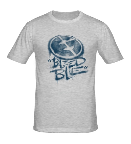 Мужская футболка Bleed Blue