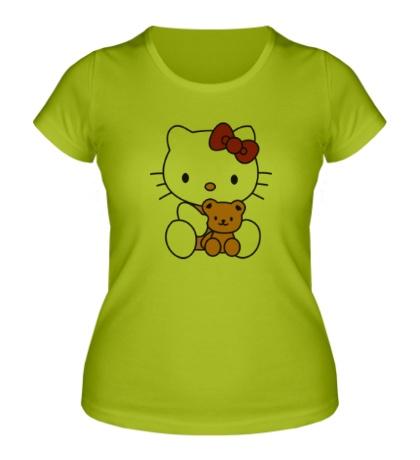 Женская футболка Китти и Тедди