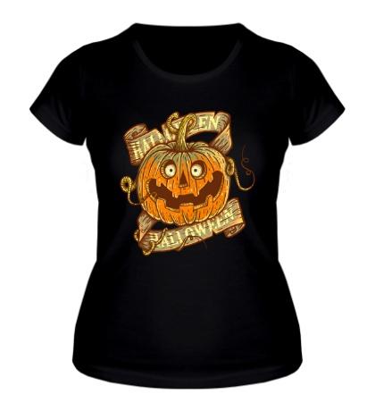 Женская футболка «Хэллуинская тыква»