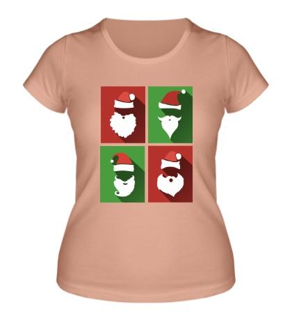 Женская футболка Бородатые Деды Морозы