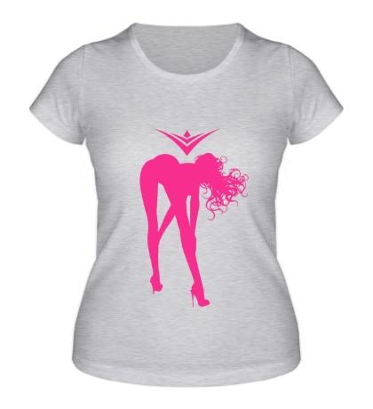 Женская футболка Sensation Shy Girl