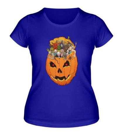 Женская футболка Монстры в тыкве