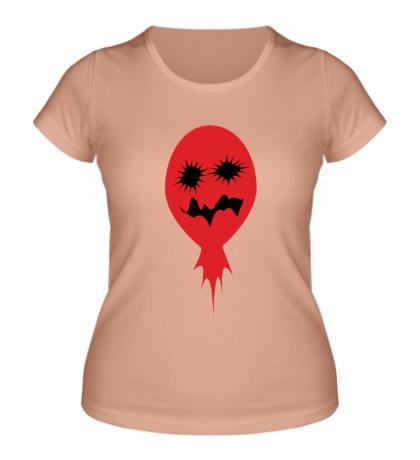Женская футболка Страшный шарик
