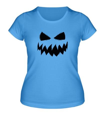 Женская футболка Страшный смайл