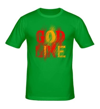 Мужская футболка God like distortion