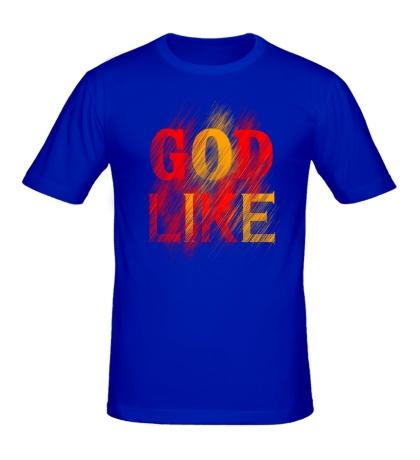 Мужская футболка «God like distortion»