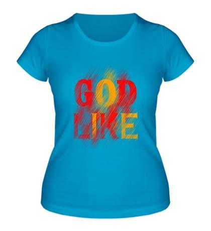 Женская футболка God like distortion