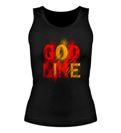 Женская майка «God like distortion»