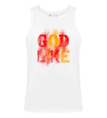 Мужская майка «God like distortion»