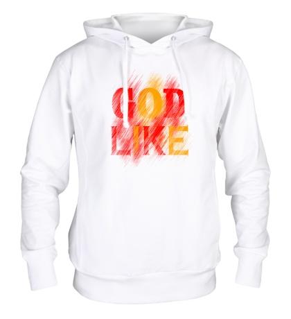 Толстовка с капюшоном «God like distortion»