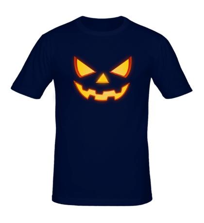 Мужская футболка Хеллоуинское лицо