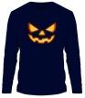 Мужской лонгслив «Хеллоуинское лицо» - Фото 1