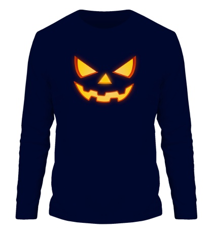 Мужской лонгслив Хеллоуинское лицо